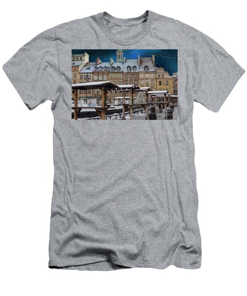Men's T-Shirt (Slim Fit) featuring the photograph Christmas In Warsaw by Juli Scalzi