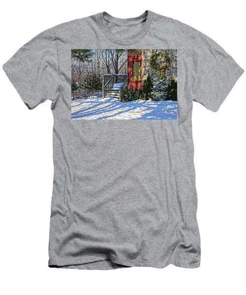 Men's T-Shirt (Athletic Fit) featuring the photograph Christmas Scene In Canada by Tatiana Travelways
