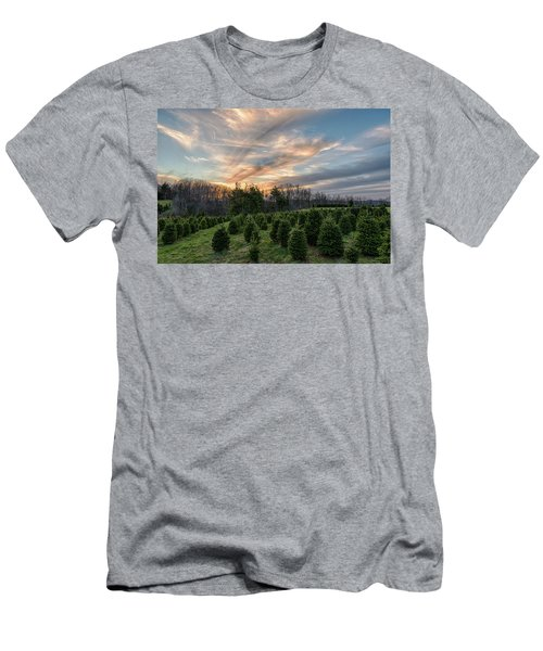 Christmas Tree Farm Sunset Men's T-Shirt (Athletic Fit)