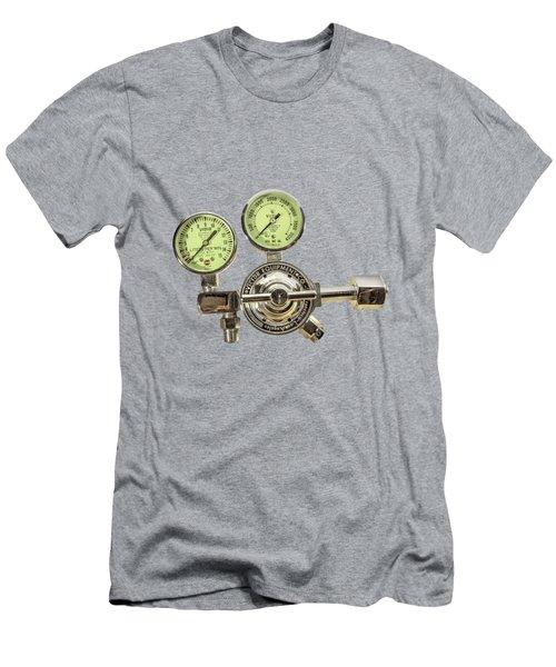 Chrome Regulator Gauges Men's T-Shirt (Athletic Fit)