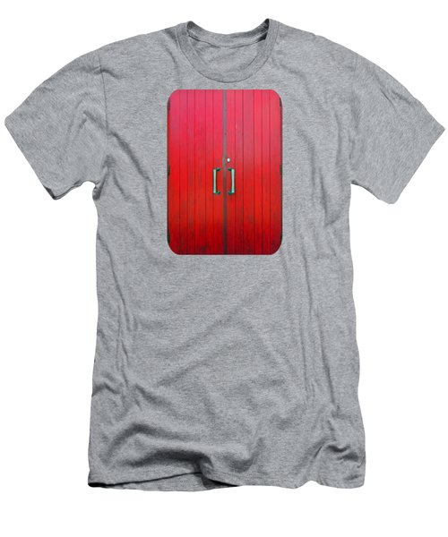Men's T-Shirt (Slim Fit) featuring the photograph Church Door by Ethna Gillespie