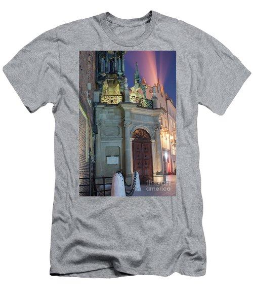 Men's T-Shirt (Slim Fit) featuring the photograph Church Door by Juli Scalzi