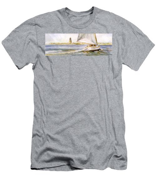 Cimba At Bird Island Light Men's T-Shirt (Slim Fit) by P Anthony Visco