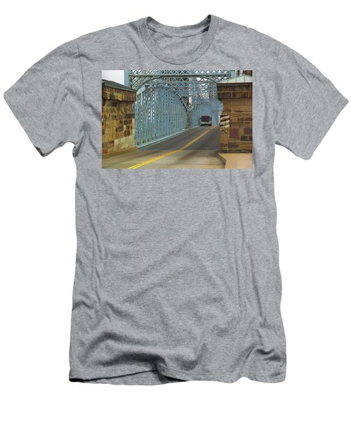 Cincinnati - Roebling Bridge 1 Men's T-Shirt (Slim Fit) by Frank Romeo