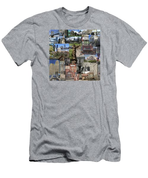 Cincinnati's Favorite Landmarks Men's T-Shirt (Athletic Fit)