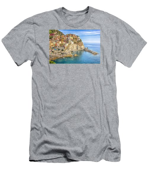Men's T-Shirt (Slim Fit) featuring the photograph Cinque Terre by Brent Durken