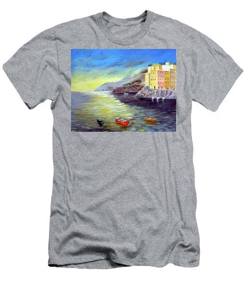 Cinque Terre Dreams Men's T-Shirt (Athletic Fit)