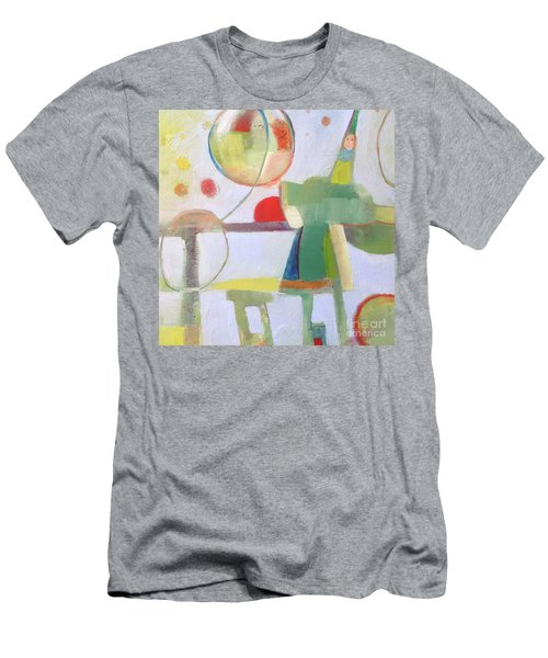 Men's T-Shirt (Athletic Fit) featuring the painting Circus Act by Michelle Abrams