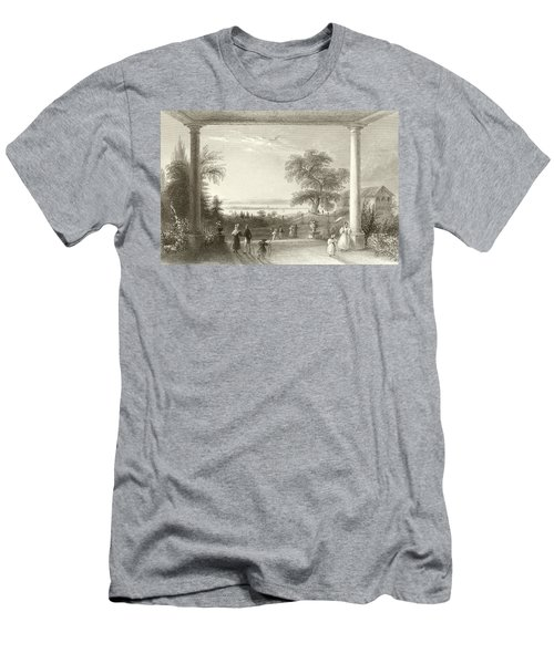 City And Lake Of Constance From The Chateau Wolfsberg Men's T-Shirt (Athletic Fit)