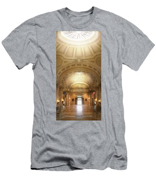 Men's T-Shirt (Athletic Fit) featuring the photograph City - Annapolis Md - Bancroft Hall by Mike Savad