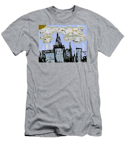 City In Blue Men's T-Shirt (Slim Fit) by Dan Twyman