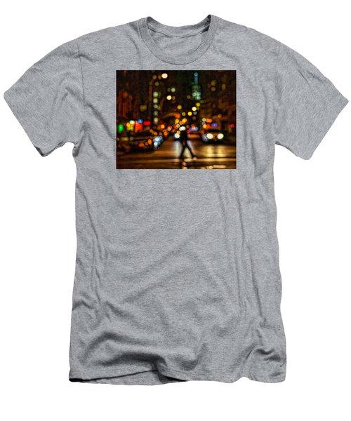 City Nights, City Lights Men's T-Shirt (Slim Fit) by Jeffrey Friedkin