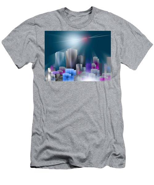 City Of Light Men's T-Shirt (Slim Fit) by John Krakora