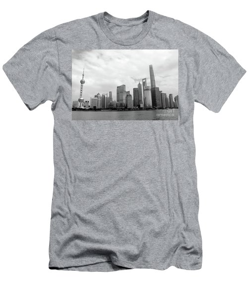 Men's T-Shirt (Slim Fit) featuring the photograph City Skyline by MGL Meiklejohn Graphics Licensing