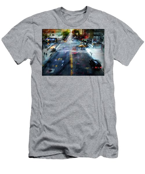 Cityscape 39 - Crossroads Men's T-Shirt (Slim Fit) by Alfredo Gonzalez
