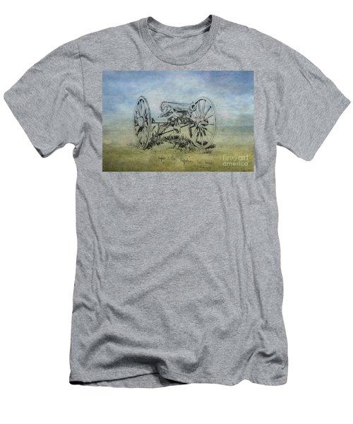 Civil War Cannon Sketch  Men's T-Shirt (Athletic Fit)