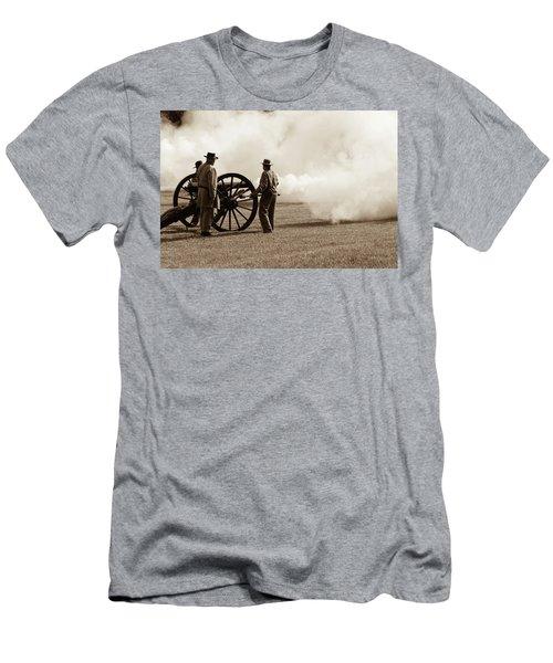 Civil War Era Cannon Firing  Men's T-Shirt (Athletic Fit)