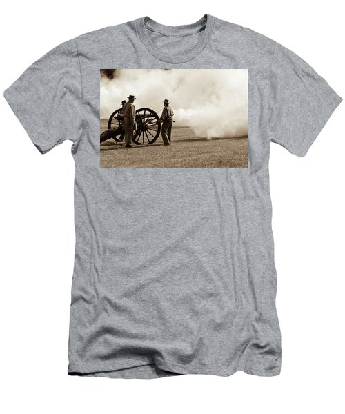 Civil War Era Cannon Firing  Men's T-Shirt (Athletic Fit)
