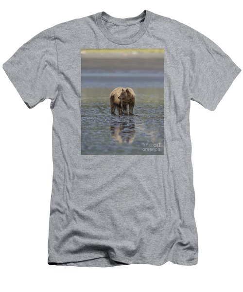 Men's T-Shirt (Slim Fit) featuring the photograph Clamming The Day Away by Sandra Bronstein