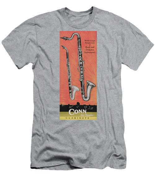 Clarinet And Giant Boehm Bass Men's T-Shirt (Athletic Fit)