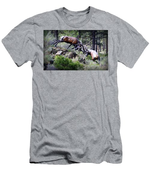 Men's T-Shirt (Athletic Fit) featuring the photograph Clash Of The Titans by AJ Schibig