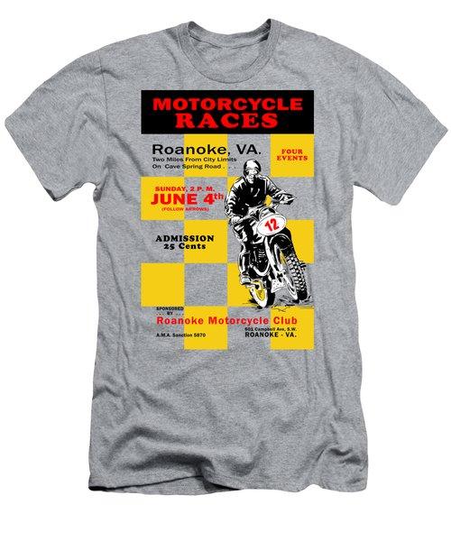 Classic Motorcycle Races Roanoke Virginia Men's T-Shirt (Athletic Fit)
