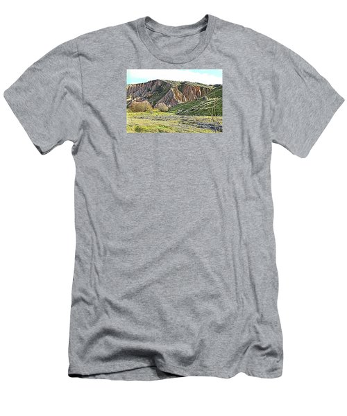 Clay Cliffs Near Danseys Pass Men's T-Shirt (Athletic Fit)