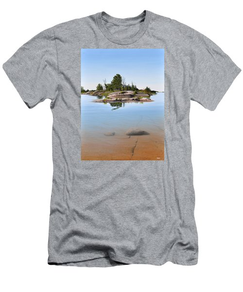 Men's T-Shirt (Slim Fit) featuring the painting Clear Contentment by Kenneth M Kirsch