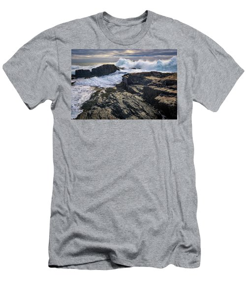 Men's T-Shirt (Slim Fit) featuring the photograph Clearing Storm At Bald Head Cliff by Rick Berk