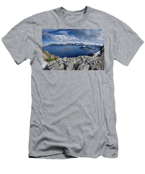 Clearing Storm At Crater Lake Men's T-Shirt (Athletic Fit)