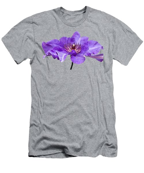 Men's T-Shirt (Slim Fit) featuring the photograph Clematis by Scott Carruthers
