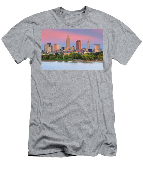 Men's T-Shirt (Slim Fit) featuring the photograph Cleveland Skyline 6 by Emmanuel Panagiotakis