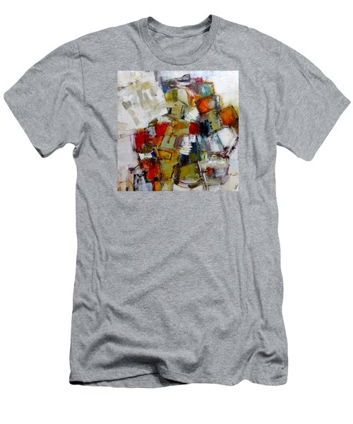 Men's T-Shirt (Slim Fit) featuring the painting Clever Clogs by Katie Black