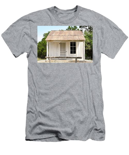 Men's T-Shirt (Slim Fit) featuring the photograph Clint's Cabin - Texas - Close-up by Ray Shrewsberry