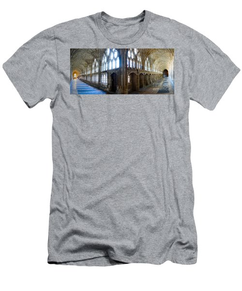 Cloisters, Gloucester Cathedral Men's T-Shirt (Slim Fit) by Colin Rayner