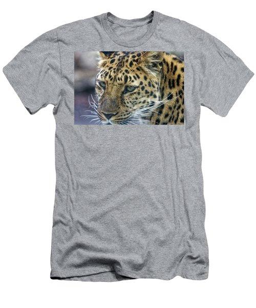 Close Up Of Leopard Men's T-Shirt (Athletic Fit)