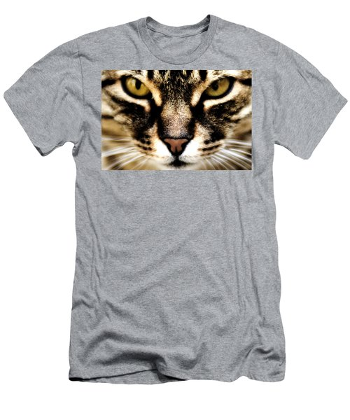 Close Up Shot Of A Cat Men's T-Shirt (Athletic Fit)