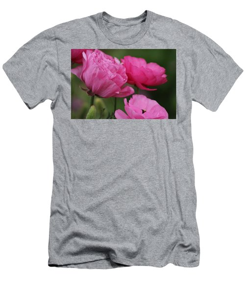 Closeup Deep Peony Pink Ranunculus Men's T-Shirt (Athletic Fit)