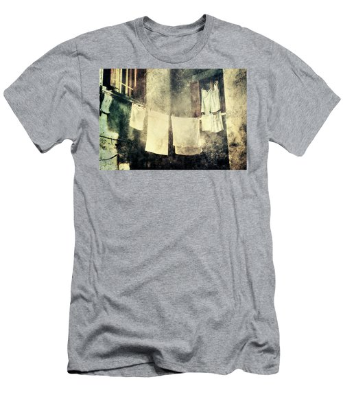 Clothes Hanging Men's T-Shirt (Slim Fit) by Vittorio Chiampan