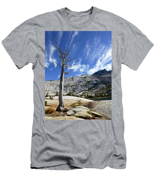 Cloud Stretch Lower Cathedral Lake Men's T-Shirt (Slim Fit) by Amelia Racca