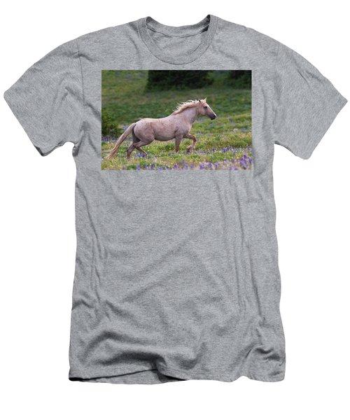 Cloud- Wild Stallion Of The West Men's T-Shirt (Athletic Fit)