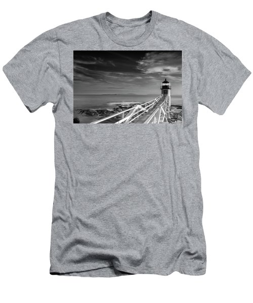 Men's T-Shirt (Slim Fit) featuring the photograph Clouds Over Marshall Point Lighthouse In Maine by Ranjay Mitra