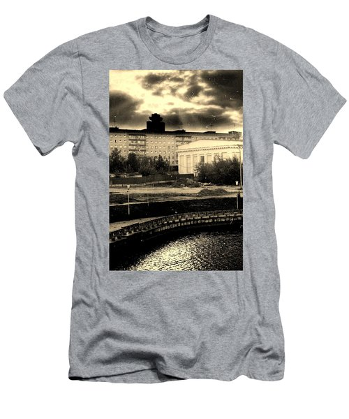 Clouds Over Minsk Men's T-Shirt (Athletic Fit)
