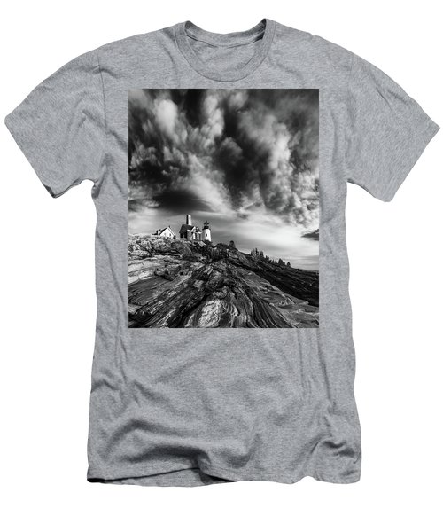 Clouds Over Pemaquid Lighthouse Men's T-Shirt (Athletic Fit)