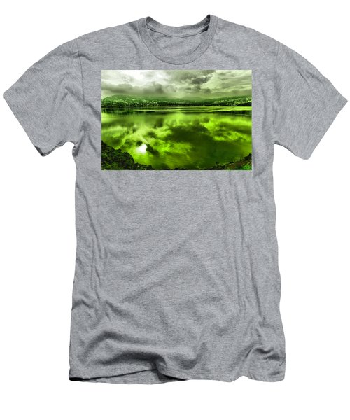 Men's T-Shirt (Slim Fit) featuring the photograph Clouds Reflecting Off The Columbia  by Jeff Swan