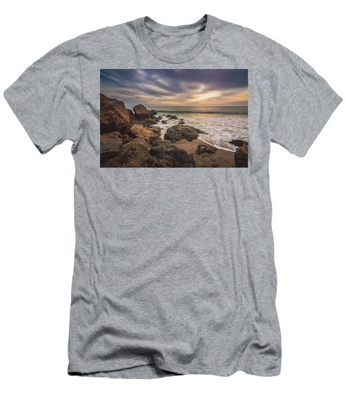 Cloudy Point Dume Sunset Men's T-Shirt (Athletic Fit)