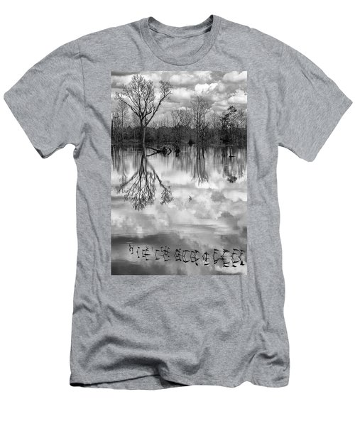 Men's T-Shirt (Athletic Fit) featuring the photograph Cloudy Reflection by Hitendra SINKAR