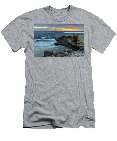 Cloudy Sunset At La Jolla Shores Beach Men's T-Shirt (Athletic Fit)