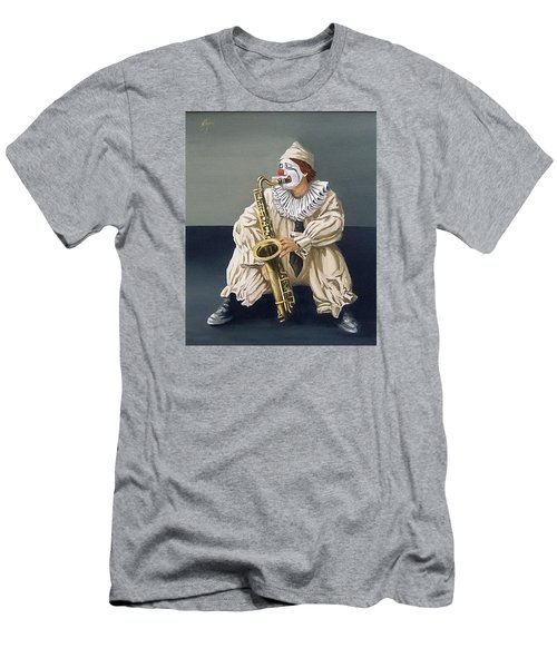 Men's T-Shirt (Slim Fit) featuring the painting Clown by Natalia Tejera