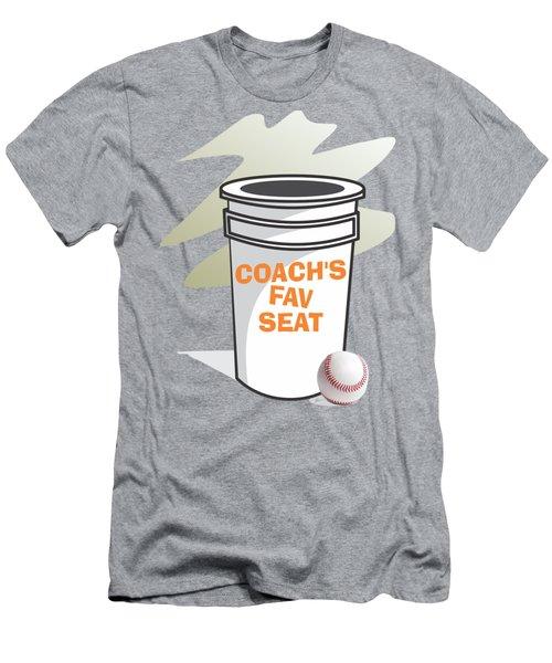 Coach's Favorite Seat Men's T-Shirt (Slim Fit) by Jerry Watkins